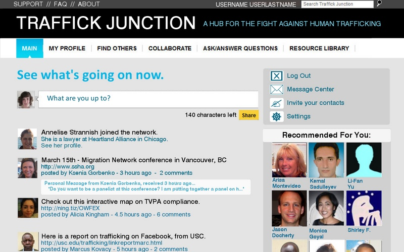 Traffick Junction - Main Page with Feed