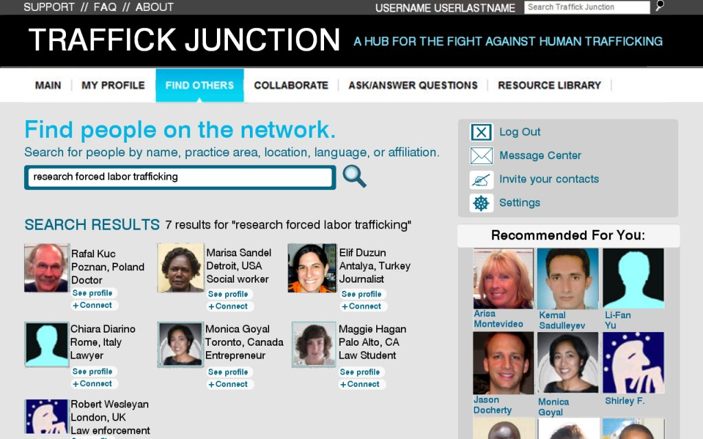 traffick junction mockups - FIND PEOPLE 3 results